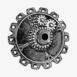 vector-gear-cog-in-vintage-style